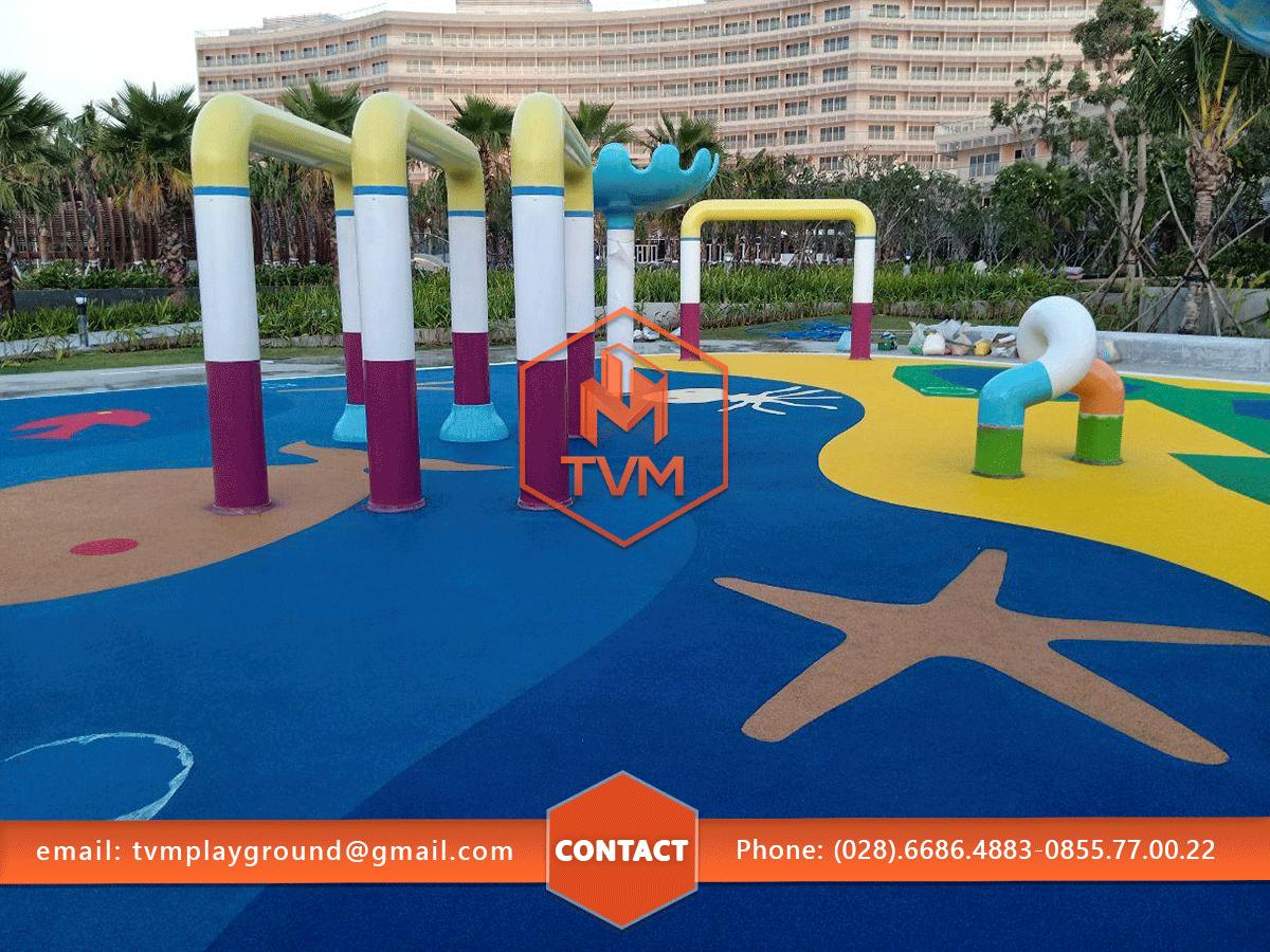 Sân chơi nước cao cấp tại resort Pullman Kiên Giang do TVM thiết kế và thi công